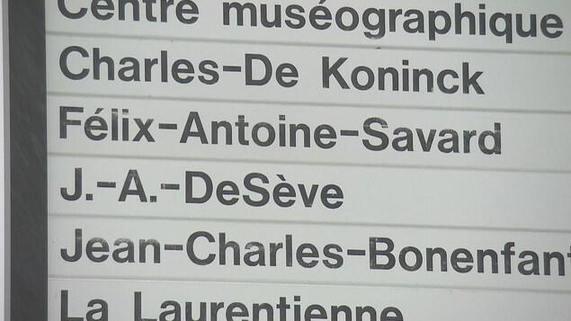 Les pavillons importants portent presque tous le nom d'un homme à l'Université Laval.