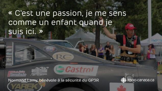 Normand Lamy est bénévole au Grand Prix de Trois-Rivières.