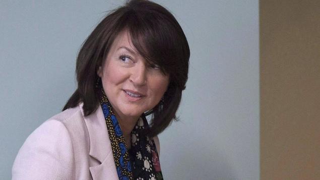 Nathalie Normandeau, en juin 2016, au palais de justice de Québec.