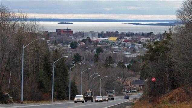 La ville de North Bay, en bordure du lac Nipissing