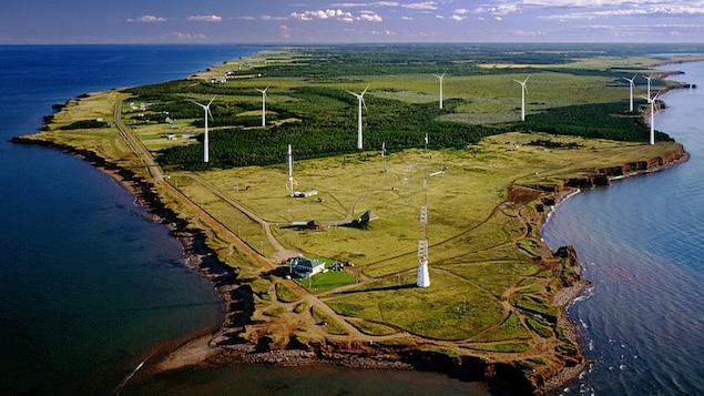 Photographie aérienne des lieux.