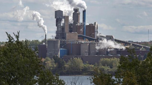 L'usine de pâtes et papiers, Northern Pulp, à Abercrombie en Nouvelle-Écosse.