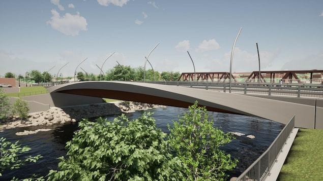 Nouveau pont des Grandes Fourches à Sherbrooke