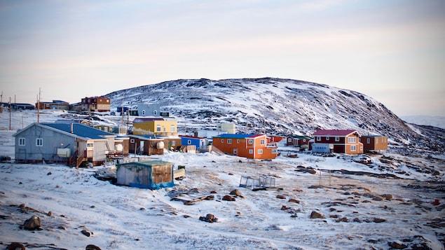 Une vue d'Apex, une communauté rattachée à Iqaluit.