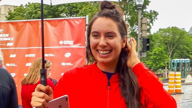 Océane Dodin, la championne en titre de la Coupe Banque Nationale