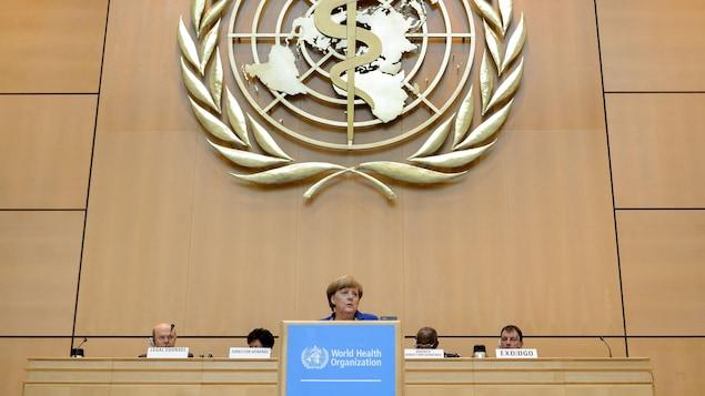 Logo de l'Organisation mondiale de la santé.