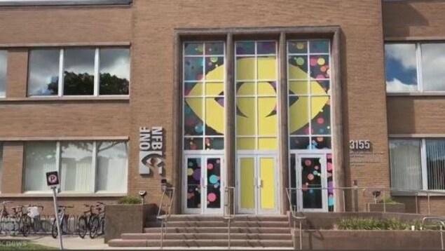 Façade de l'immeuble avec le logo de l'ONF