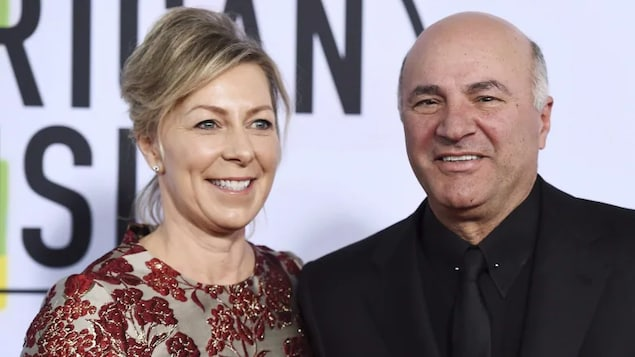 Linda O'Leary and Kevin O'Leary arrive at the American Music Awards at the Microsoft Theater in Los Angeles in 2017. Linda O'Leary has been found not guilty in connection with a 2019 boat crash that killed 64-year-old Gary Poltash and 48-year-old Suzana Brito.