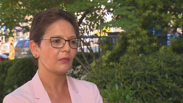 Padminee Chundunsing, la présidente de la Fédération des francophones de la Colombie-Britannique, en entrevue après la décision de la Cour fédérale sur le recours de l'organisme contre le gouvernement fédéral.