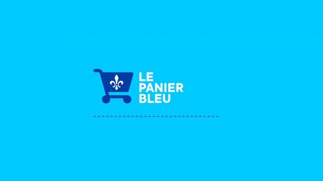 Le logo du Panier bleu, une initiative du gouvernement provincial pour favoriser l'achat local.