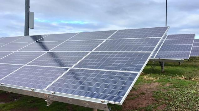 Un panneau solaire