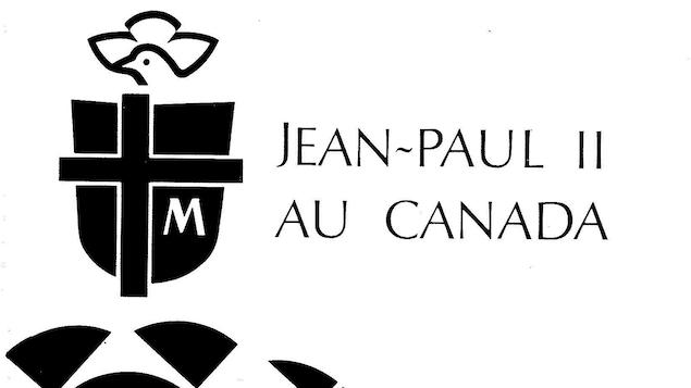 Logo et titre Jean-Paul II au Canada sur la couverture d'un document.