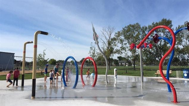 Le nouveau parc de jeux d'eau du Centre récréatif Gateway à Winnipeg