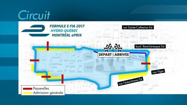 Le parcours de la grande finale de formule E à Montréal en 2017