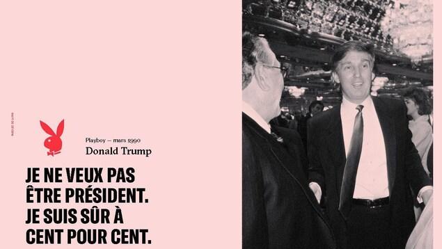 """Donald Trump, dans les pages du livre «Paroles de lapin : les grands entretiens du magazine """"Playboy""""»"""