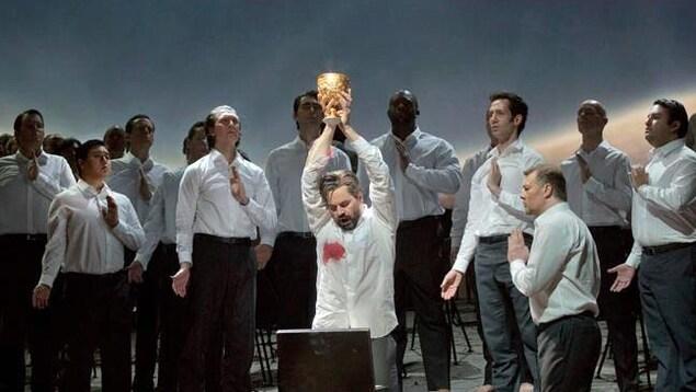 Une scène de «Parsifal», au Metropolitan Opera de New York