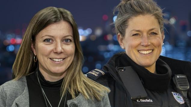 Pascale Chouinard et Émilie Désilets sourient.