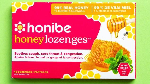 Une boîte de pastilles Honibe.