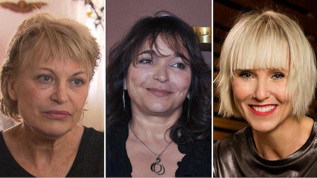 Montage présentant Patricia Tulasne, Lyne Charlebois et Pénélope McQuade