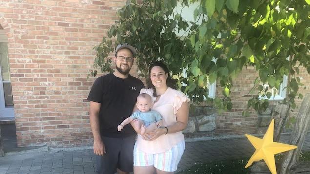 Patrick Lavoie, Kelly Quimper et le petit Olivier