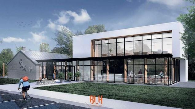 Imagine d'un bâtiment neuf.