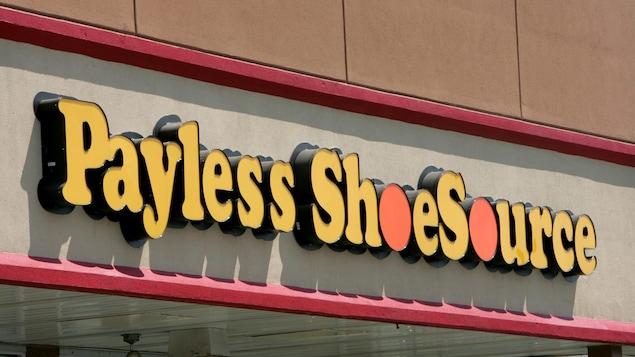 Une enseigne de la chaîne de magasins de chaussures Payless ShoeSource
