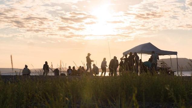 Le regroupement Pêche lors d'un événement en Gaspésie.