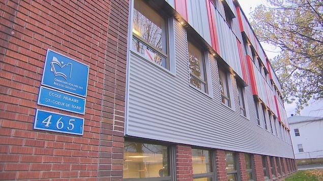 La façade de l'école primaire Saint-Coeur de Marie