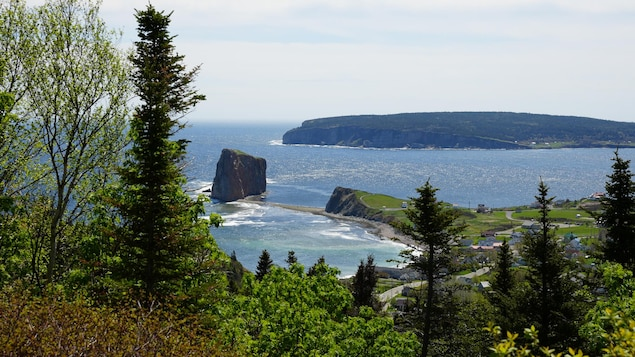 Le Rocher Percé et l'île Bonaventure.