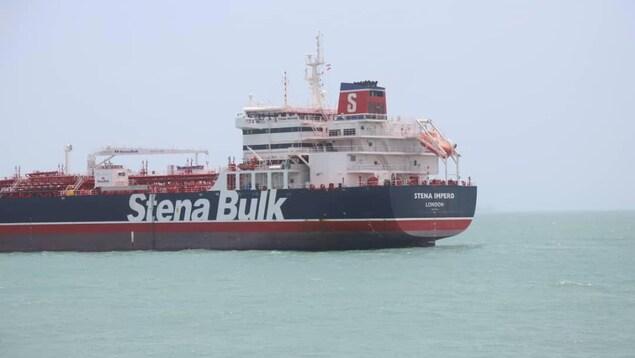 Le pétrolier britannique Stena Impero.