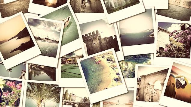 Mosaïque de photos de voyages