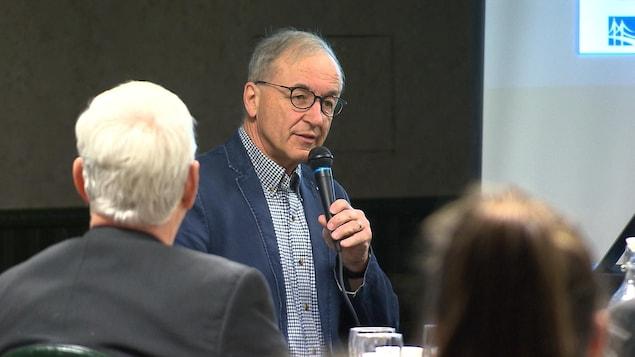 Le vice-président de la Société du pont sur le Saguenay, Pierre Breton