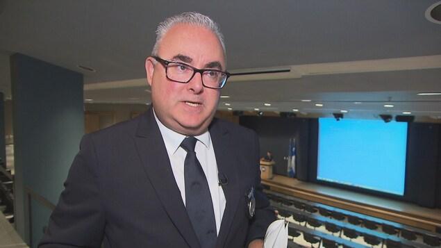 Pierre St-Antoine, directeur des communications de l'École nationale de police du Québec