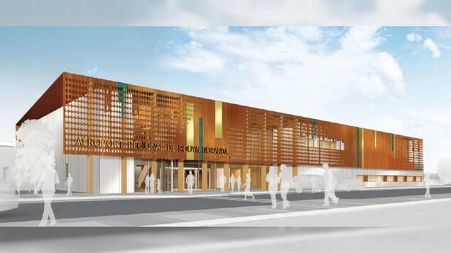 Un plan montre les travaux qui seront réalisés à l'aéroport de Rouyn-Noranda.