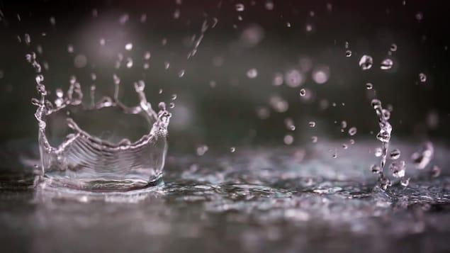 De la pluie qui tombe