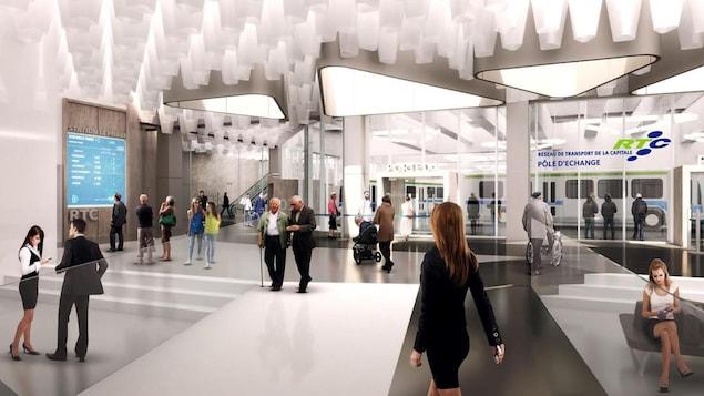 La station Le Phare sera notamment un pole d'échange, selon les prévisions actuelles.