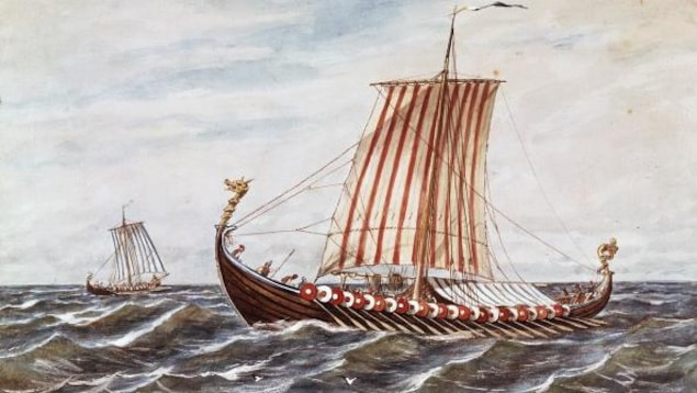 Reproduction d'un drakkar viking.