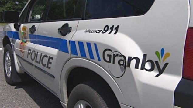 Une voiture du Service de police de Granby