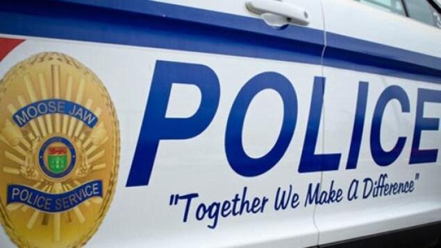 Une voiture de la police de Moose Jaw, en Saskatchewan.