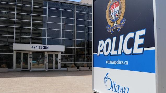 Le quartier général du Service de police d'Ottawa.