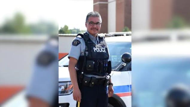 Un portrait du policier Bernie Herman, accusé du meurtre de Braden Herman à Prince Albert, en Saskatchewan.