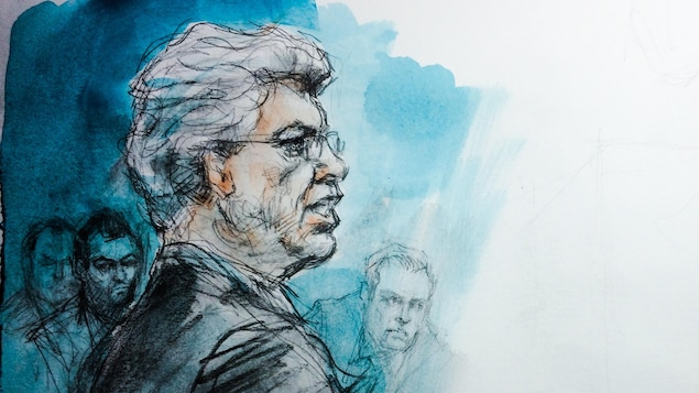 Esquisse de l'avocat de l'agent Kara, Alan Gold
