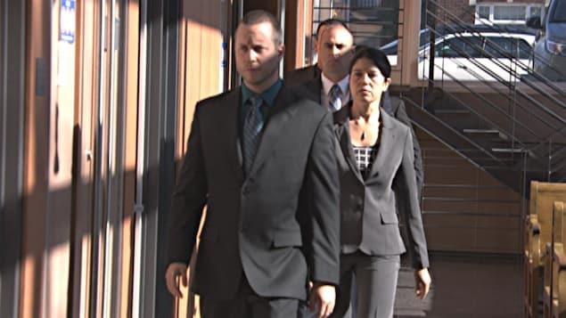 Les policiers accusés d'avoir malmené Alexis Vadeboncoeur à la suite d'une arrestation en 2013 dans un couloir du palais de justice de Trois-Rivières
