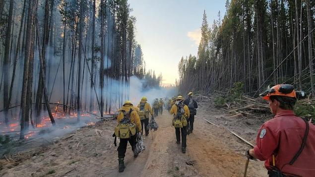 Des pompiers mexicains en Colombie-Britannique.
