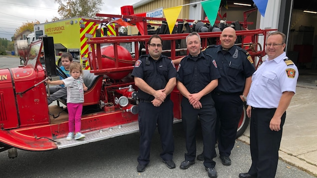 Des pompiers de Rouyn-Noranda
