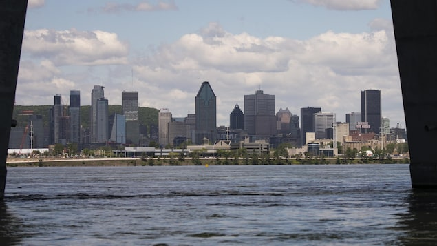 Le centre-ville de Montréal.