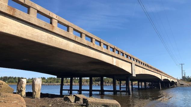 Le pont no 1 de la rivière Kouchibouguac le 22 septembre 2019.