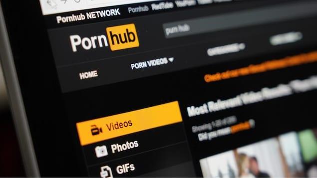 La page web de Pornhub.