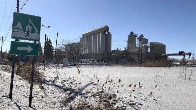 Les installations actuelles du port de Montréal à Contrecoeur.