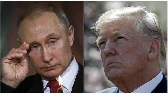 Vladimir Poutine et Donald Trump réunis dans un photomontage.